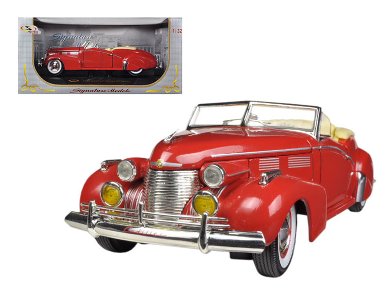 1940 Cadillac Sedan Series 62 Red 1/32 Diecast Car Model Signature Models 32337
