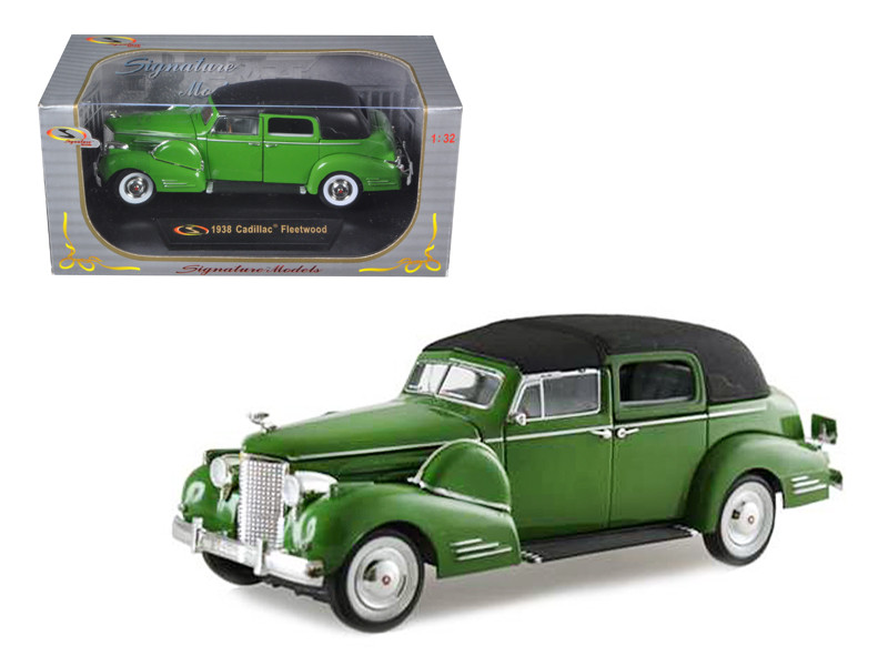 1938 Cadillac Series 90 V16 Fleetwood Green 1/32 Diecast Model Car Signature Models 32340