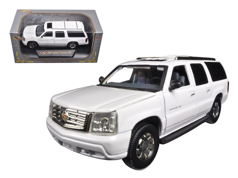 2004 Cadillac Escalade ESV Pearl White 1/32 Diecast Car Model Signature Models 32343
