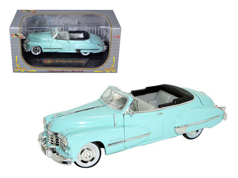 1947 Cadillac Series 62 Light Blue Convertible 1/32 Diecast Car Model Signature Models 32349