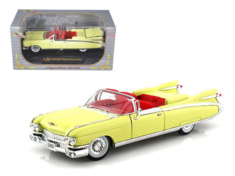 1959 Cadillac Eldorado Biarritz Yellow 1/32 Diecast Car Model Signature Models 32350