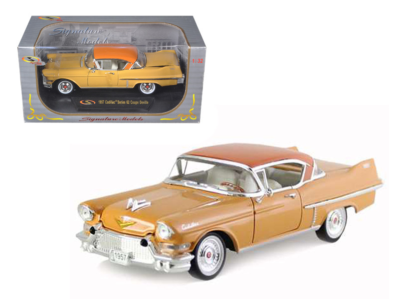 1957 Cadillac Series 62 Coupe De Ville Yellow 1/32 Diecast Car Model Signature Models 32359