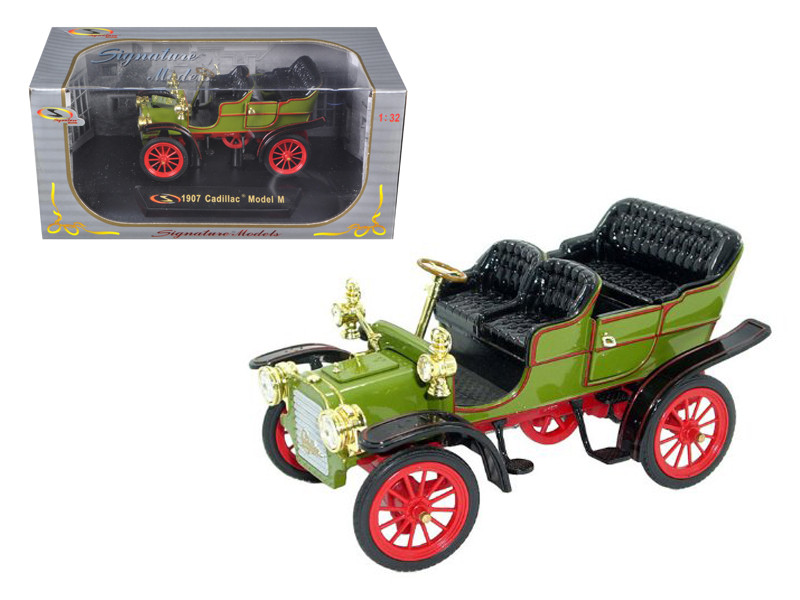 1907 Cadillac Model M Green 1/32 Diecast Car Model Signature Models 32360