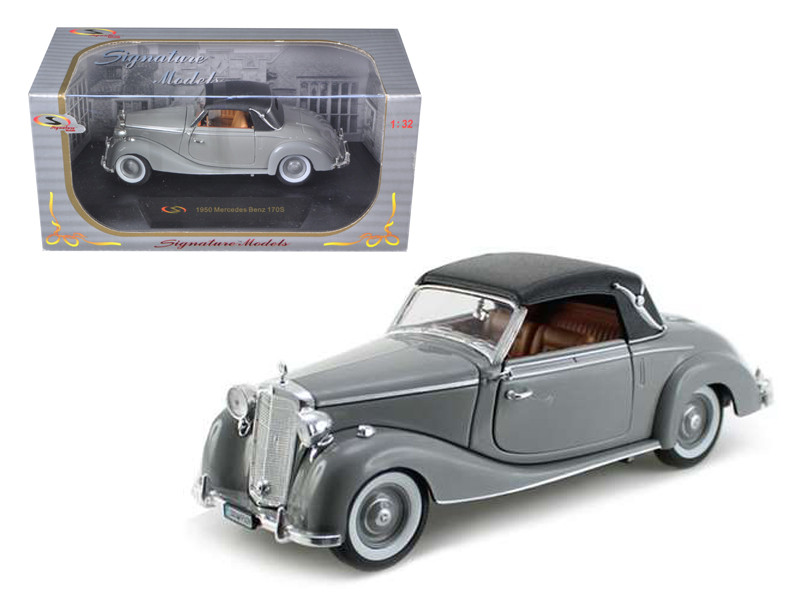 1950 Mercedes 170s Soft Top Gray 1/32 Diecast Model Car Signature Models 32375