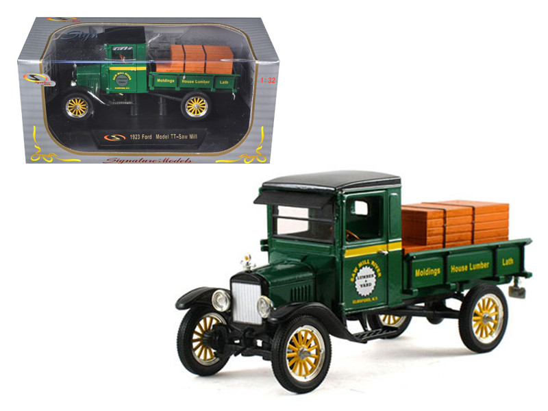 1923 Ford Model TT Lamber Truck Green 1/32 Diecast Model Car Signature Models 32385