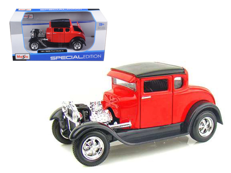 1929 Ford Model A Red 1/24 Diecast Model Car Maisto 31201