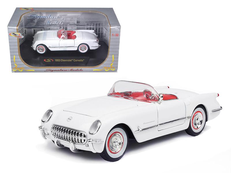 1953 Chevrolet Corvette White 1/32 Diecast Model Car Signature Models 32429