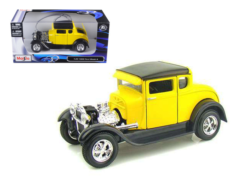 1929 Ford Model A Yellow 1/24 Diecast Model Car Maisto 31201