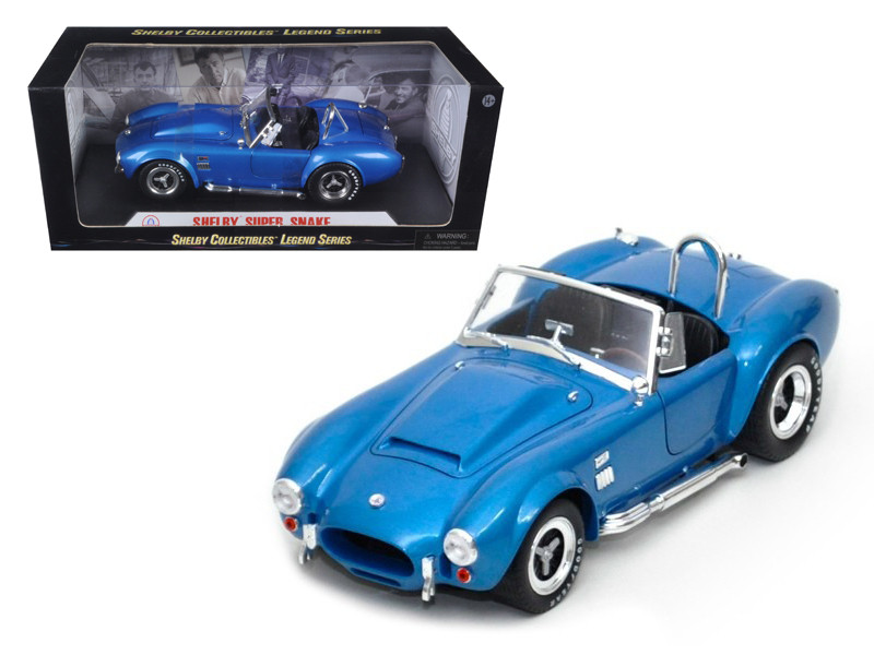 1966 Shelby Cobra Super Snake Blue 1/18 Diecast Model Car Shelby Collectibles SC125