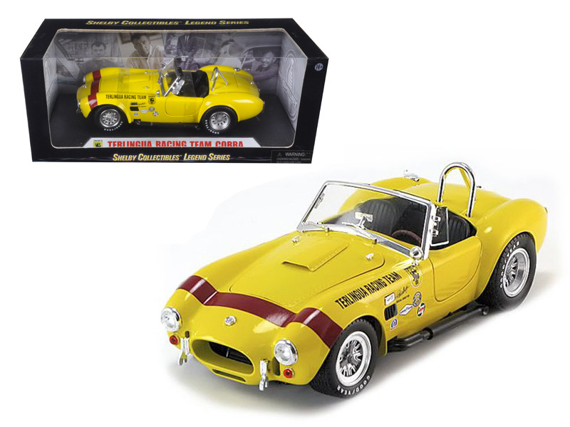 1965 Shelby Cobra Terlingua Racing Team Yellow 1/18 Diecast Car Model Shelby Collectibles SC127