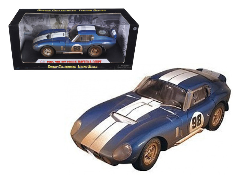 1965 Shelby Cobra Daytona #98 After Race Dirty Version Diecast Car Model 1/18 Shelby Collectibles SC133
