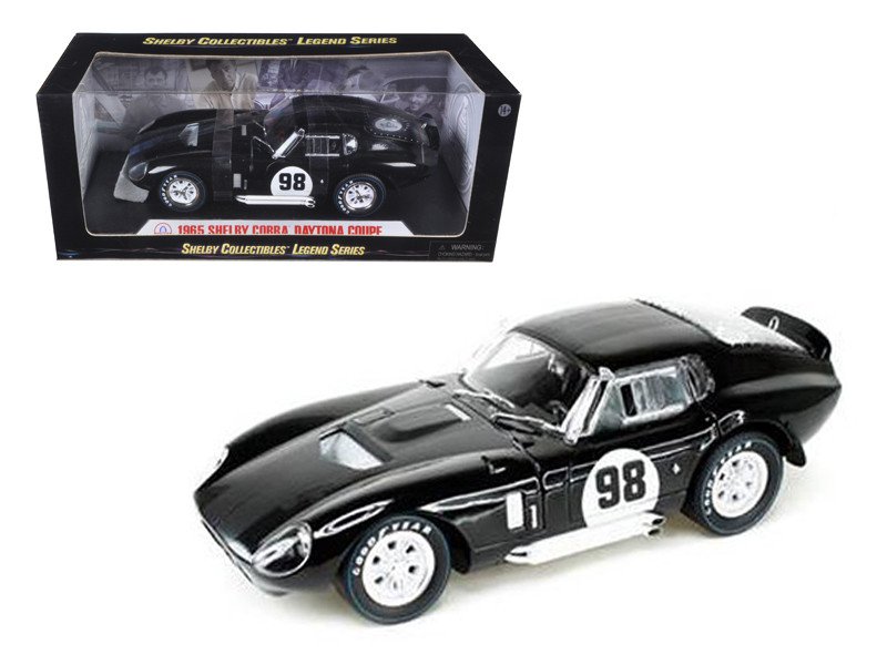 1965 Shelby Cobra Daytona Black #98 1/18 Diecast Car Model Shelby Collectibles SC148