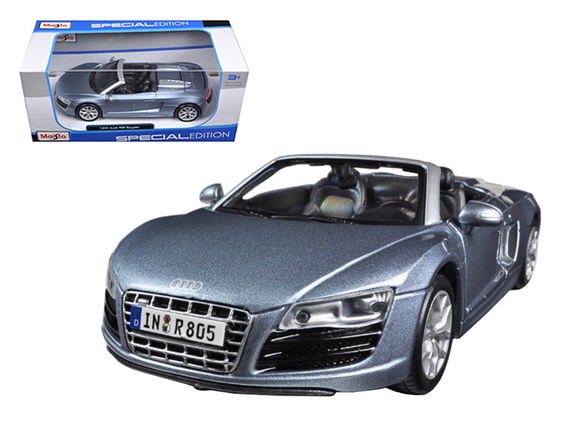 Audi R8 Spyder Blue 1/24 Diecast Car Model Maisto 31204