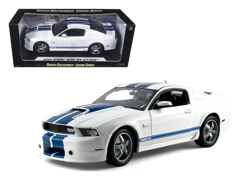 2011 Ford Shelby Mustang GT350 White 1/18 Diecast Model Car Shelby Collectibles SC351