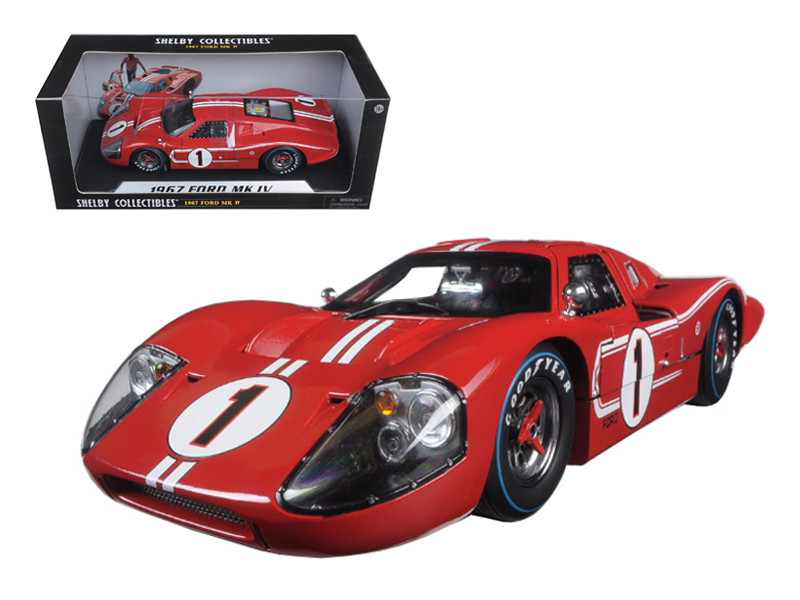 1967 Ford GT MK IV #1 Red 1/18 Diecast Model Car Shelby Collectibles SC423