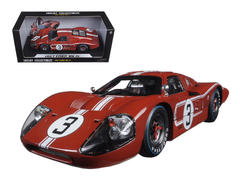 1967 Ford GT MK IV #3 Brown Le Mans 24 Hours M.Andretti / L.Bianchi 1/18 Diecast Model Car by Shelby Collectibles