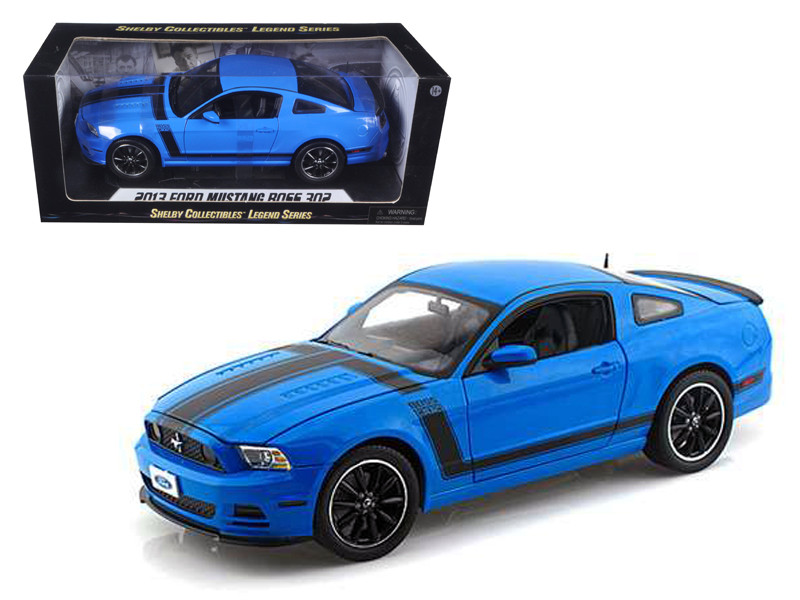 2013 Ford Mustang Boss 302 Blue 1/18 Diecast Car Model Shelby Collectibles SC450
