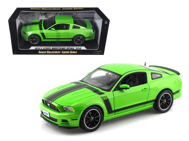 2013 Ford Mustang Boss 302 Green 1/18 Diecast Car Model Shelby Collectibles SC453
