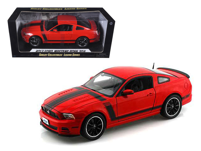 2013 Ford Mustang Boss 302 Red 1/18 Diecast Car Model Shelby Collectibles SC454