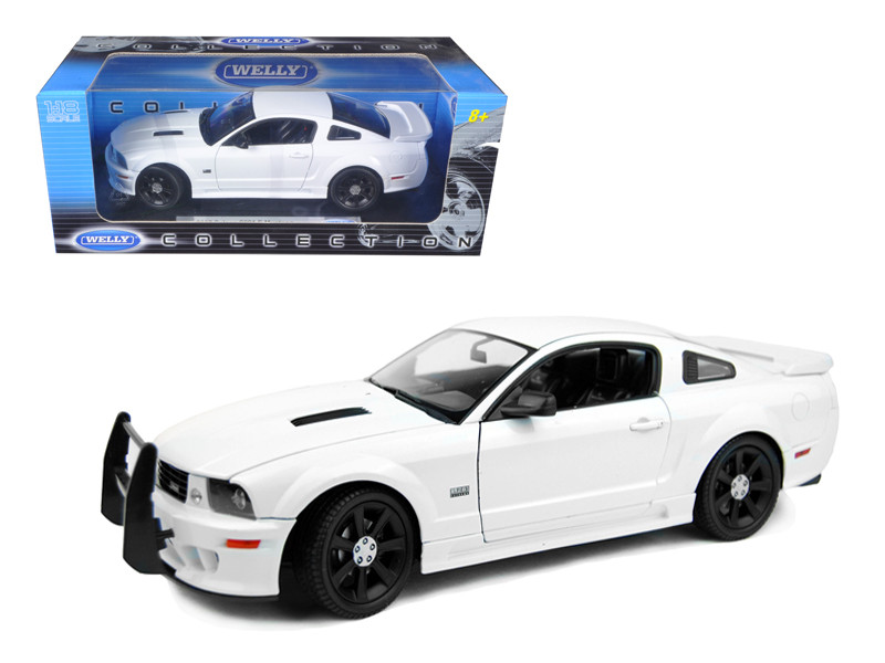 2007 Saleen S281 E Mustang Unmarked Police Car White 1/18 Diecast Car Model Welly 12569