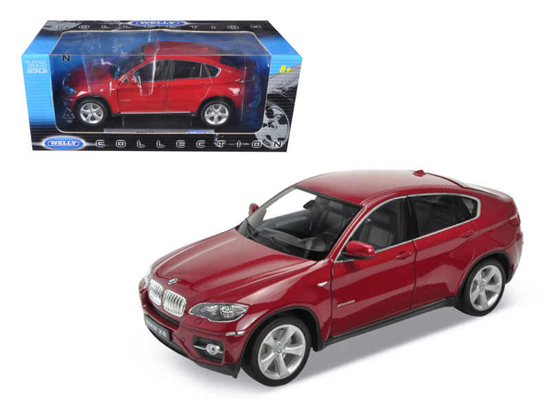 2011 2012 BMW X6 Red 1/18 Diecast Car Model Welly 18031