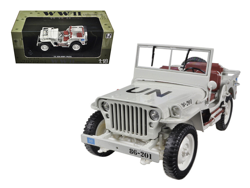 1/4 Ton UN WW 2 Jeep Beige 1/18 Diecast Jeep Model Welly 18036