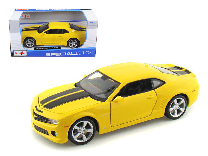 2010 Chevrolet Camaro RS SS Yellow 1/24 Diecast Model Car Maisto 31207