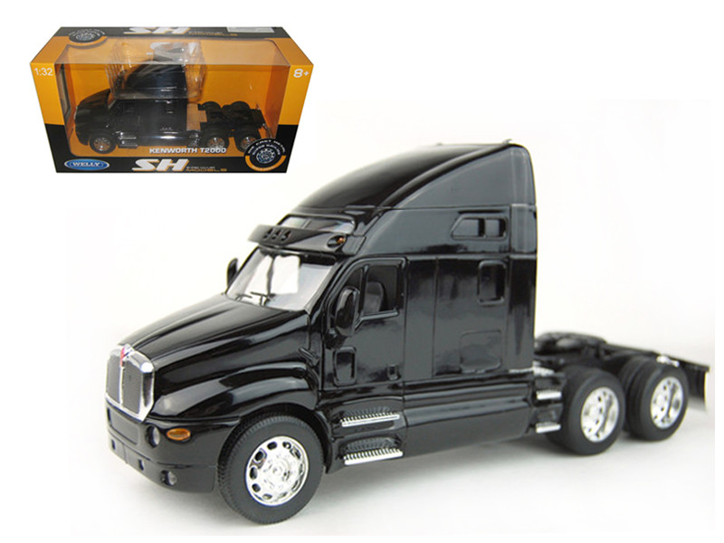 Kenworth T2000 Cab Black 1/32 Diecast Model Welly 32210
