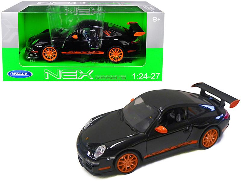 Porsche 911 997 GT3 RS Black 1/24 1/27 Diecast Model Car Welly 22495