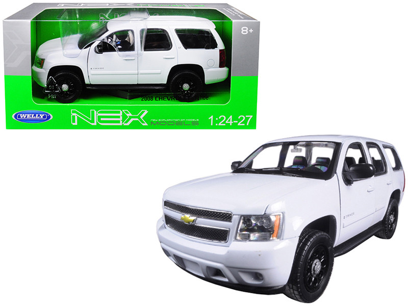 2008 Chevrolet Tahoe Unmarked Police Car White 1/24 1/27 Diecast Model Car Welly 22509