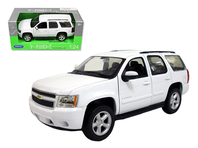 2008 Chevrolet Tahoe Street Version White 1/24 Diecast Car Model by Welly