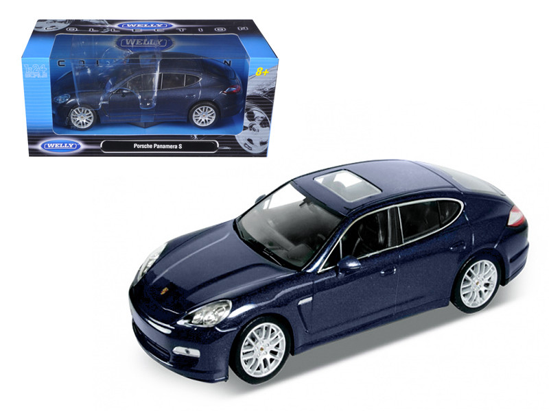Porsche Panamera S Blue 1/24 Diecast Car Model Welly 24011