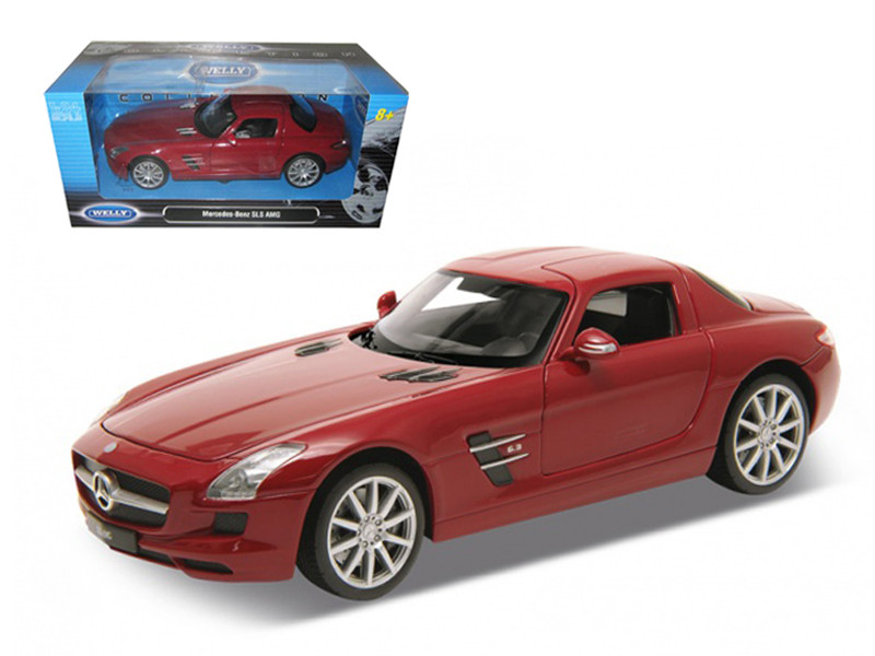Mercedes SLS AMG Red 1/24 Diecast Model Car Welly 24025