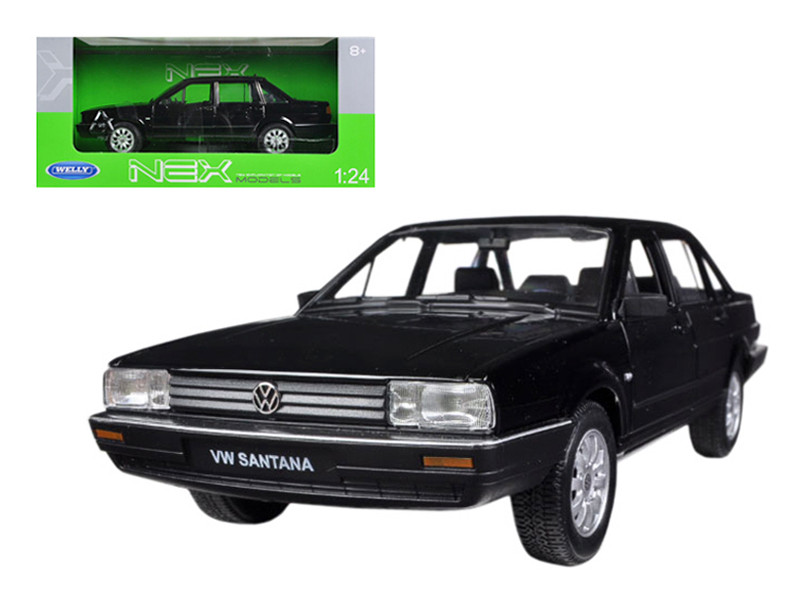 Volkswagen Santana Black 1/24 Diecast Car Model Welly 24036