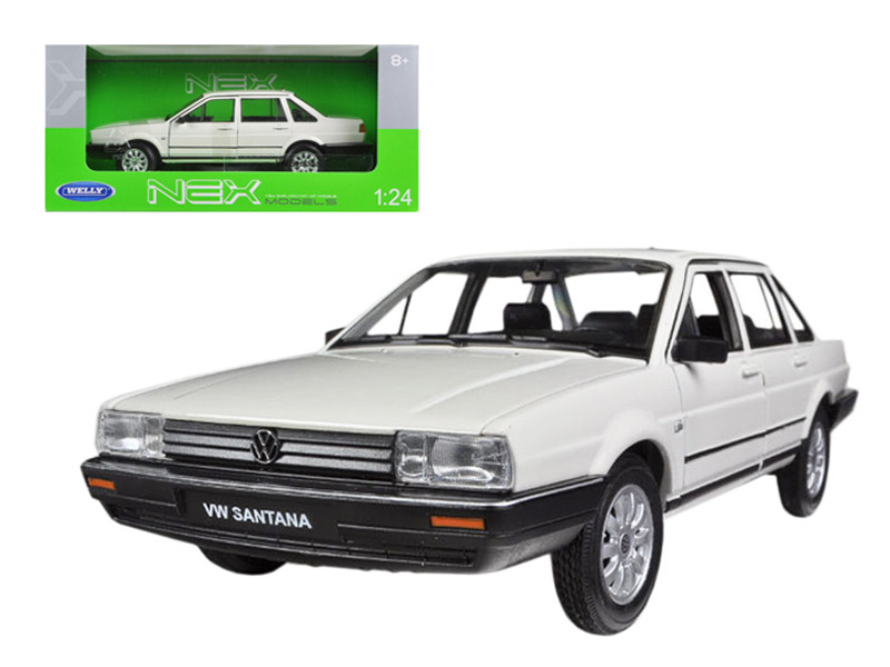 Volkswagen Santana Cream 1/24 Diecast Car Model by Welly