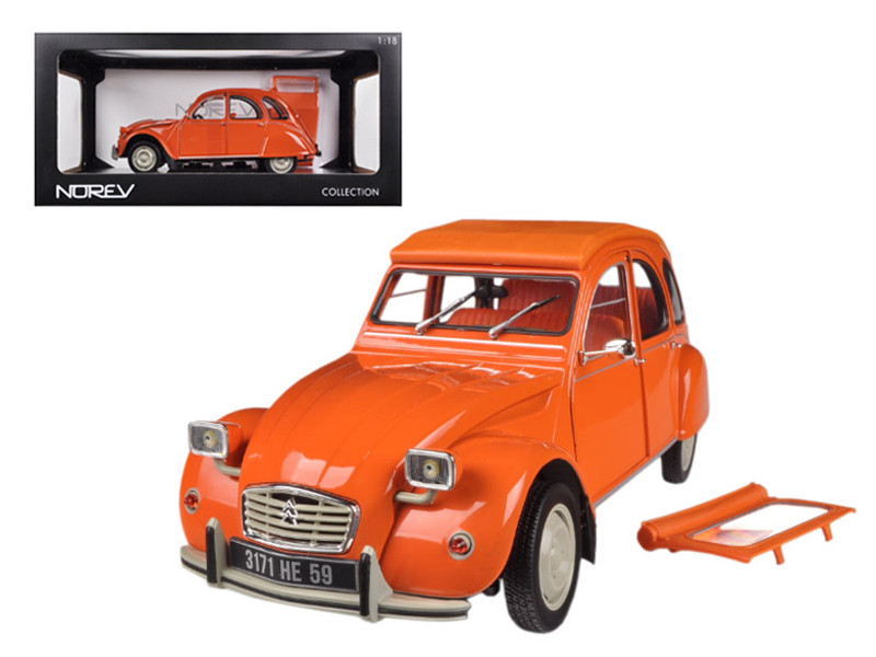 1976 Citroen 2CV 6 Orange 1/18 Diecast Car Model Norev 181514