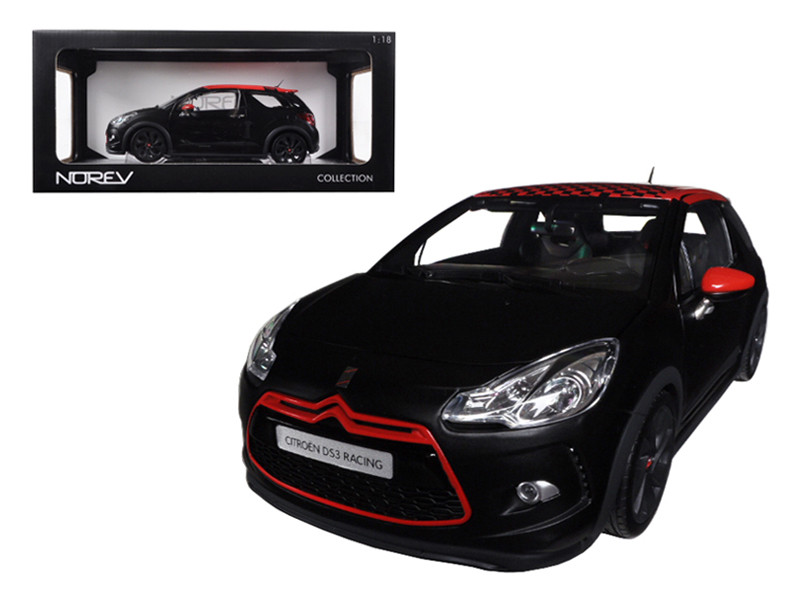 2012 Citroen DS3 Racing S.Loeb Matt Black 1/18 Diecast Car Model Norev 181543