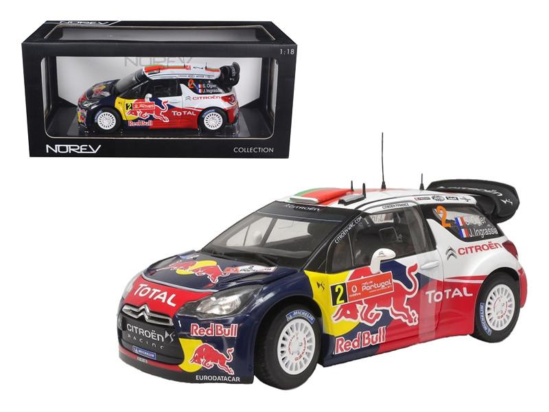 """Citroen DS3 #2 WRC Winner Rally Portugal 2011 Ogier/Ingrassia """"Red Bull"""" 1/18 Diecast Model Car Norev 181556"""