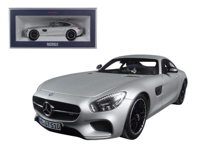 2015 Mercedes AMG GT Silver 1/18 Diecast Model Car Norev 183495