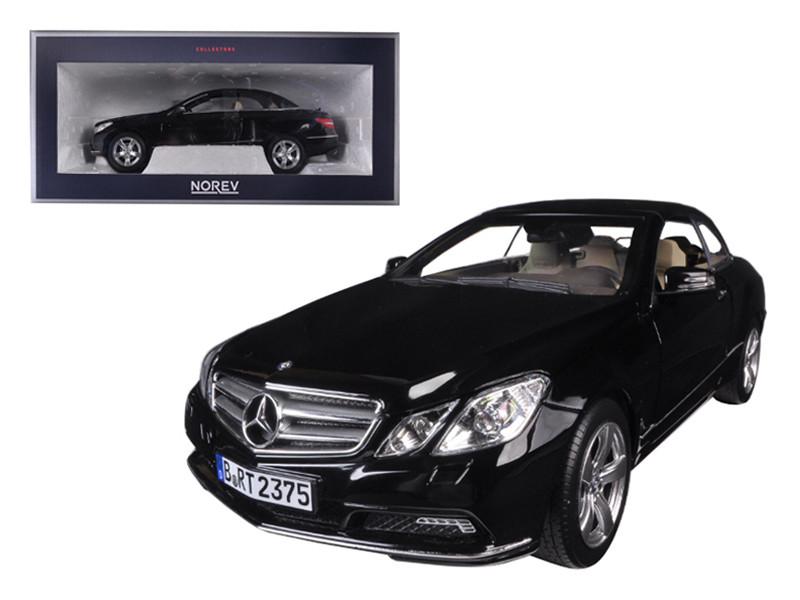 2010 Mercedes E Class E500 Cabriolet Black with Cream Interior 1/18 Diecast Model Car Norev 183543