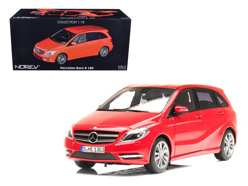2011 Mercedes B180 Red 1/18 Diecast Car Model Norev 183559