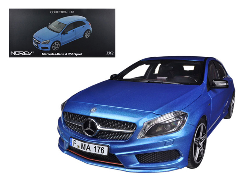 2012 Mercedes A 250 Sport Blue 1/18 Diecast Car Model by Norev