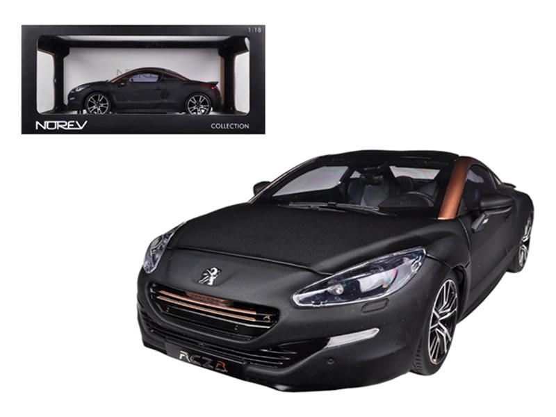 2012 Peugeot RCZ R Black / Gold 1/18 Diecast Car Model Norev 184785