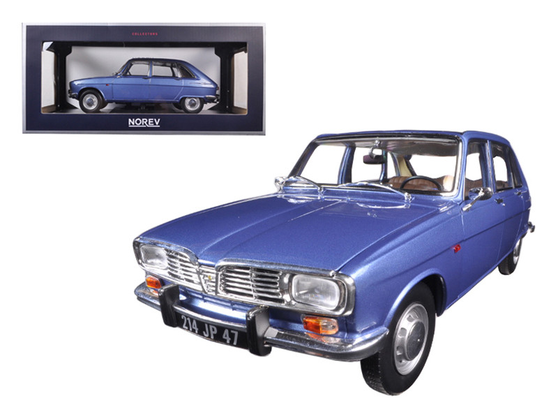1968 Renault 16 Cobalt Blue Metallic 1/18 Diecast Model Car Norev 185132