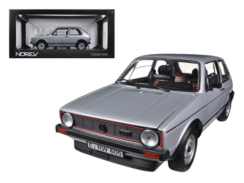 1976 Volkswagen Golf GTi Silver 1/18 Diecast Car Model Norev 188486