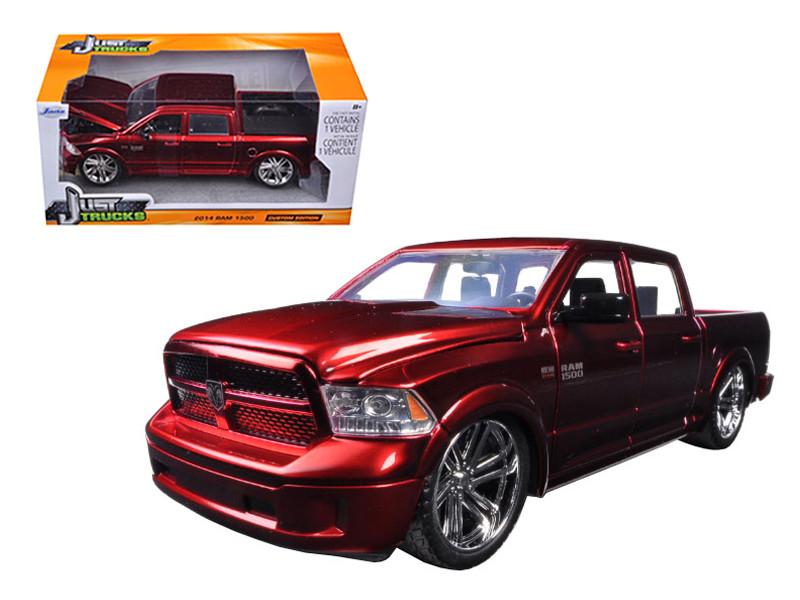 2014 RAM 1500 Pickup Truck Custom Edition Red Just Trucks Series 1/24 Diecast Model Car Jada 54040