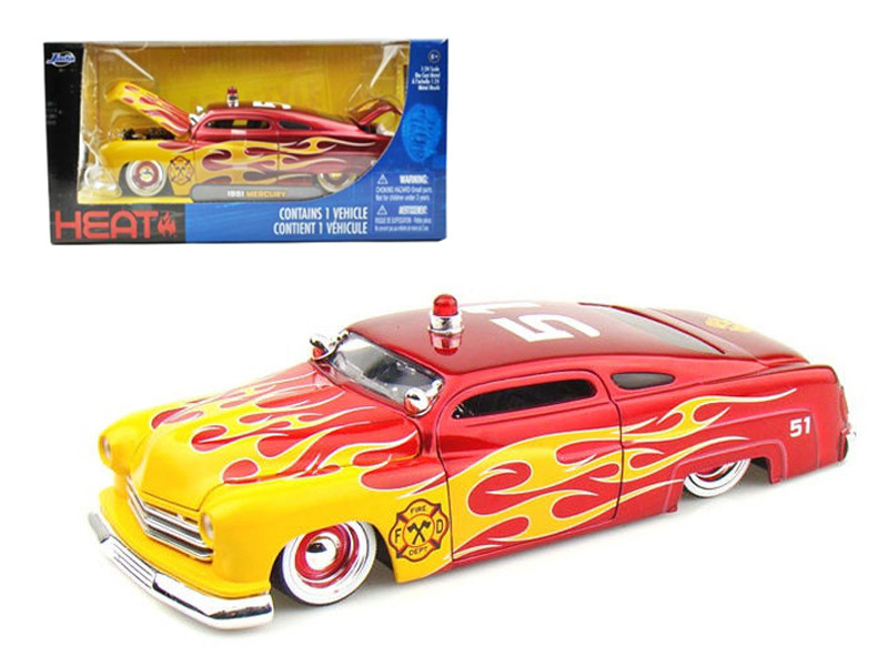 1951 Mercury Fire Chief 1/24 Diecast Model Car Jada 92454