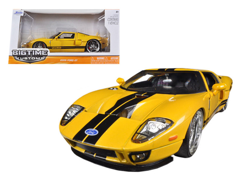 2005 Ford GT Yellow 1/24 Diecast Car Model Jada 96732