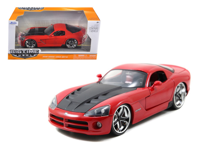 2008 Dodge Viper SRT10 Red 1/24 Diecast Car Model Jada 96805