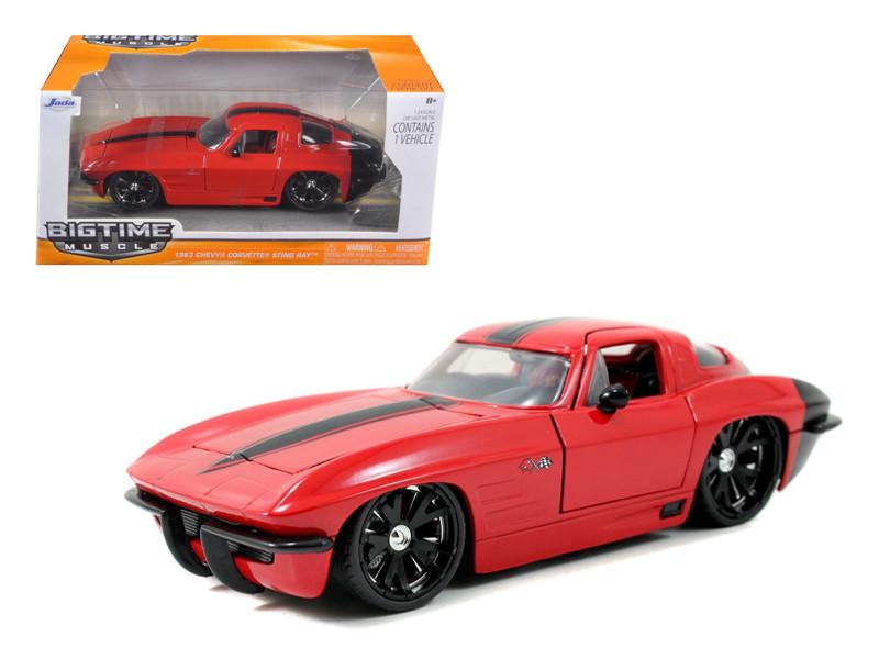 1963 Chevrolet Corvette Stingray Red 1/24 Diecast Car Model Jada 96808